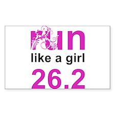run like a girl 26.2 Decal