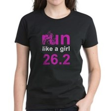 run like a girl 26.2 Tee