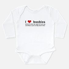 I Love (Heart) Boobies! Long Sleeve Infant Bodysui