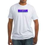 Drop The Teleprompter Fitted T-Shirt