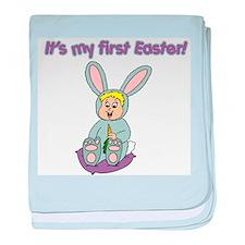 Easter Baby Blonde Infant Blanket