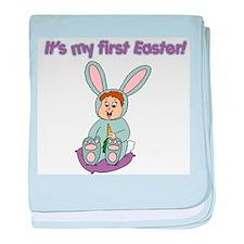 Easter Baby Brunette Infant Blanket