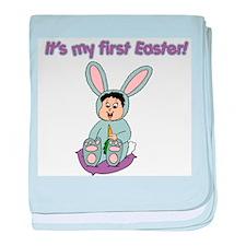 Easter Baby Black Hair Infant Blanket