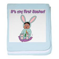 Easter Baby Dark Hair (2) Infant Blanket