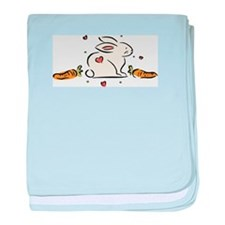 Bunny with Carrots Infant Blanket