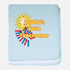 Daddy's Little Firecracker Infant Blanket