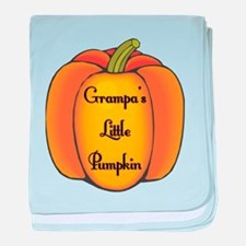 Grampa's Little Pumpkin Infant Blanket