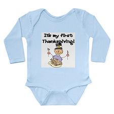 My 1st Thanksgiving (1) Long Sleeve Infant Bodysui