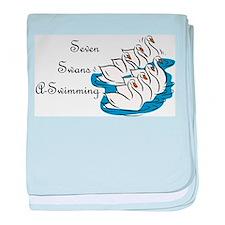 Seventh Day of Christmas Infant Blanket