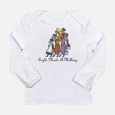Eighth Day of Christmas Long Sleeve Infant T-Shirt
