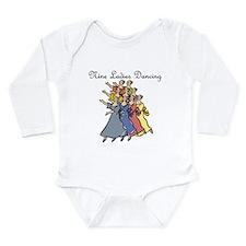 Ninth Day of Christmas Long Sleeve Infant Bodysuit