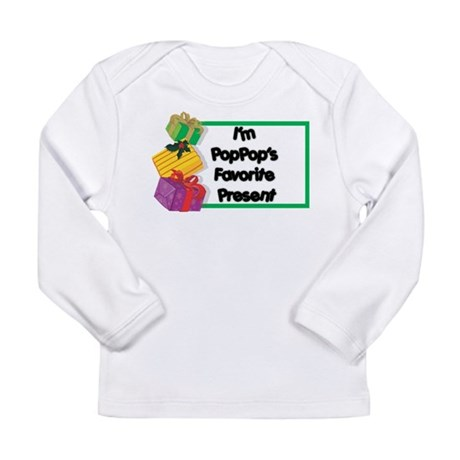 PopPop's Favorite Present Long Sleeve Infant T-Shi