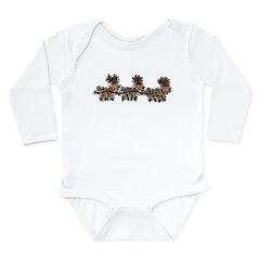 Flying Reindeer Long Sleeve Infant Bodysuit