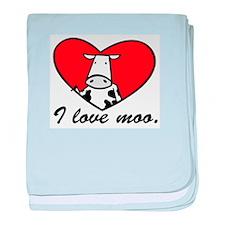 I Love Moo Infant Blanket