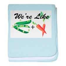 Like Peas and Carrots Infant Blanket