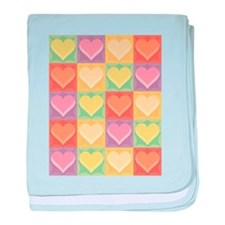 Heart Patchwork Infant Blanket