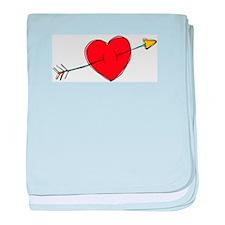 Arrow Through Heart Infant Blanket