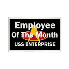USS Enterprise Employee of th Rectangle Magnet