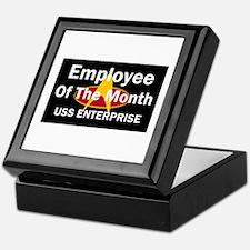 USS Enterprise Employee of th Keepsake Box