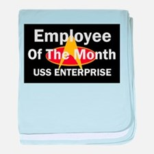 USS Enterprise Employee of th Infant Blanket