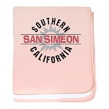 San Simeon California baby blanket