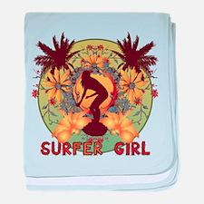 Surfer Girl Infant Blanket