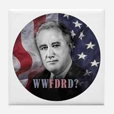 What Would FDR Do? Tile Coaster