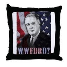 What Would FDR Do? Throw Pillow
