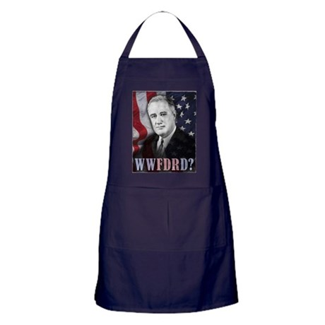 What Would FDR Do? Apron (dark)
