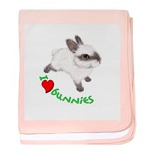I Love Bunnies Infant Blanket