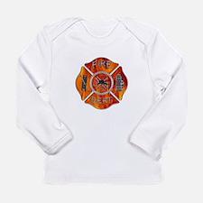 Maltese Cross Fireman Long Sleeve Infant T-Shirt