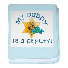 Daddy Deputy Infant Blanket