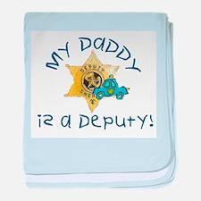Daddy Deputy Infant Blanket