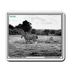 Cutting Hay with horse - Ireland -Mousepad
