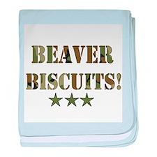 Beaver Biscuits Infant Blanket
