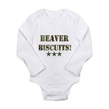 Beaver Biscuits Long Sleeve Infant Bodysuit