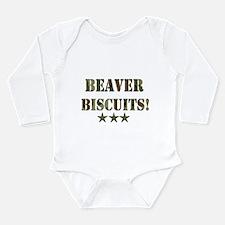 Beaver Biscuits Long Sleeve Infant Bodysuit
