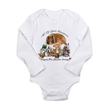 Cute Horse rescue Long Sleeve Infant Bodysuit