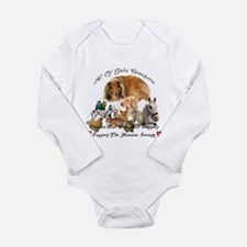 Cute Support animal shelters Long Sleeve Infant Bodysuit