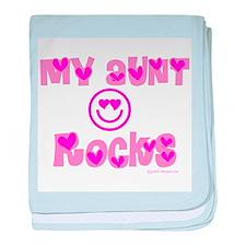 My Aunt Rocks Infant Blanket