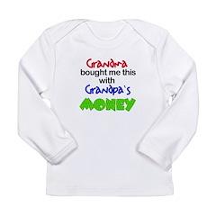 Grandpa's Money Long Sleeve Infant T-Shirt