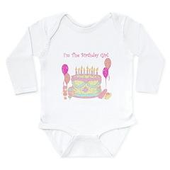 I'm The Birthday Girl Long Sleeve Infant Bodysuit