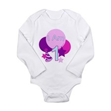 Unique Happy first birthday Long Sleeve Infant Bodysuit