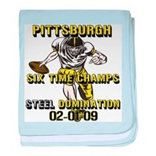 Pittsburgh Six Time Champs Infant Blanket