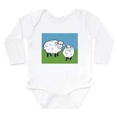 momma sheep baby lamb Long Sleeve Infant Bodysuit