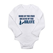 Home of the free Long Sleeve Infant Bodysuit