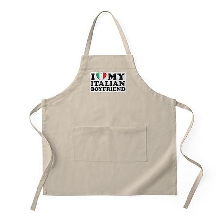 I Love My Italian Boyfriend BBQ Apron