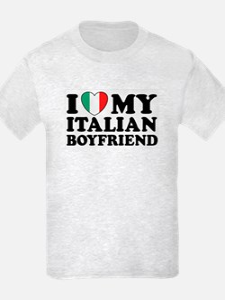 I Love My Italian Boyfriend Kids T-Shirt