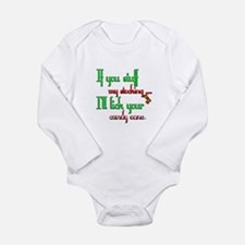 Cute Naughty christmas Long Sleeve Infant Bodysuit