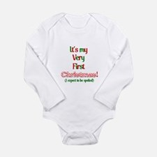 My very fist Christmas Spoil me Long Sleeve Infant